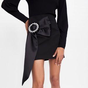NWT Zara Mini Skirt With Buckle